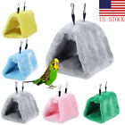 Winter Bird Plush Hut Tent Hanging Bed Nest Cage Hammock For Parrot Parakeet