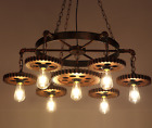 Industrial Style Vintage Ceiling Light Restaurant Gear Chandelier Pendent Lamp
