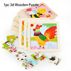 Small Size 3D Puzzle Jigsaw Animal/Traffic Puzzles Wooden Cartoon Natural Wood