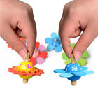 Funny Wooden Flower Shape Spinning Top Classic Toys Kids Early Educational Toy