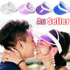 Golf Dance Cap summer Sun Visor Poker Hat transparent Fashion PVC empty top