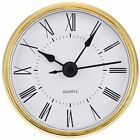 Hicarer 2.8 Inch/ 70 mm Quartz Clock Insert Gold Trim Roman Numeral Quartz M