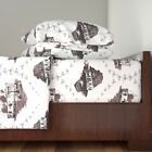 Toile Trailer Trash Mobile Home Funny Cotton Sateen Sheet Set by Roostery