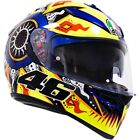 AGV K3 SV Rossi 2002 Mens Street Riding DOT Protection Motorcycle Helmets