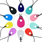 Kids Baby Teething Necklace Teether Autism Sensory Chew Chewy Silicone Pendant