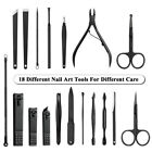 18pcs Nail Care Kit Clipper Scissor Tweezer Ear Pick Pedicure Manicure Tool Set