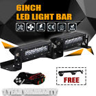 DOT 2p 6inch 60W LED 12V Work Light Flood Spot Beam Driving Fog Lamp Bar Car SUV