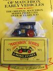 Matchbox Originals 1992 Authentic Recreations No. 1 Aveling Barford Road Roller