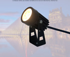 LED Spotlight Outdoor Waterproof Wall Flood Light Ground Plug Lamps Background