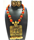 Ethnic Traditional Indian Necklace Jewellery Set for with Earrings Girls Wpmen