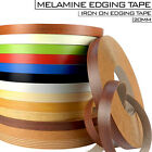 Iron On Edging Melamine Veneer Tape 20 mm High Quality Pre Glued Strips Colours