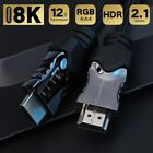 Latest Optical Fiber 8K HDMI Cable - Braided Cord -  Category 2 Certified,48Gbps