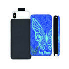 Personalised NAME BUTTERFLY Printed Pull Tab Pouch for Cubot Phone Models - 0012