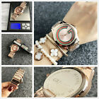 New Men Woman Simple Business Watch Round Stainless Steel Quartz Wrist Watch image