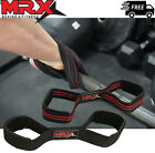 Figure 8 Padded Cuff Weight Lifting Training Gym Straps Hand bar Grip Gloves 2X