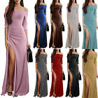 Women Maxi Off Shoulder Evening Party Prom Bridesmaid Ball Gown Formal Dress US