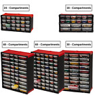 Portable Tools Storage Small Parts Organizer Craft Cabinet Compartments Drawers