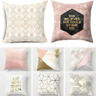 Sofa Car Seat Home Decor Pillow Cases Cushion Cover Gold Shining Winter Warm image