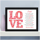Personalised Poem Gifts for Couples Her Him Wife Husband Valentines Anniversary