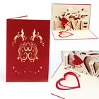 3D Handmad Pop Up Greeting Card Engagement Wedding Birthday Valentines Gifts