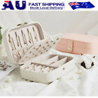 Portable Travel Jewelry Box Organizer Leather Jewellery Ornaments Case Storage