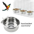 Stainless Steel Parrot Food Bowl Water Feeding Feeder Bird Cage Cup Parrot Stand