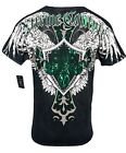 XTREME COUTURE by AFFLICTION Men T-Shirt LONG VIEW Biker WINGS MMA UFC S-XL $40 image
