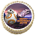 BB8 Star wars Edible cake topper image