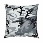 Urban Light Camo Woodland Throw Pillow Cover w Optional Insert by Roostery