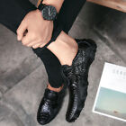 New Fashion Men's Driving Moccasins Shoes Leather Loafers Slip Casual DressFlats