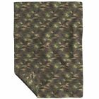 Throw Blanket Camo Glitter Woodland Camouflage Military Army Girl 48 x 70in