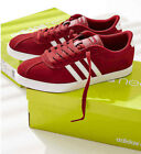 Women Adidas Courtset Sneaker Burgundy Suede with 3 Stripes NEW