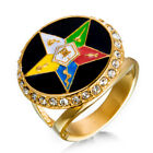 NEW* Men- Order Eastern Star- Ring- Masonic- OES- Stainless Steel- Size 7, 10-15