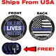 Blue Lives Matter Commemorative Coin Heroes Sacrifice Police Officers USA