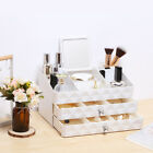 3-Tier Makeup Organiser Storage Mirrored Cosmetic Jewelry Case With 2Drawers PP