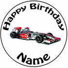 "Personalised Birthday Fomula 1 - McLaren Round 8"" Easy Precut Icing Cake Topper"