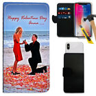 Personalised NAME & PHOTO VALENTINE'S DAY Wallet Case + Glass for Apple Models