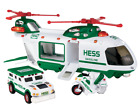 2001 Hess Helicopter with Motorcycle and Cruiser - Rare Collectable
