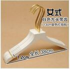 Wooden Hangers White For Clothes Rack Women Top Grade Gold Hook 10pcs/lot Adult