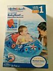 "Swim School ""Lil Skipper"" Inflatable Baby Pool Float w/ Adjustable Back Rest"