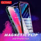 360° Front Back Tempered Glass Magnetic Absorption Case for iPhone X MAX Samsung