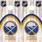 Buffalo Sabres Cornhole Skin Wrap NHL Hockey Wood Decal Vinyl Sticker DR468 $39.99 USD on eBay