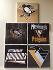 Pittsbugh Penguins Ceramic Tile Coasters (Set of 5)