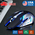 Kyпить Gaming Mouse Rechargeable Wireless Silent LED Backlit USB Optical Ergonomic US на еВаy.соm