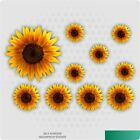 Painted Sunflower Stickers Decals Graphics Nursery Wall Decoration Art Home