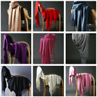 For Womens Blanket 100 Cashmere Big Long Scarf Shawl Wrap Solid Scotland Wool