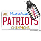 Superbowl LIII New England Patriots Aluminum License Plate Optional Key Ring on eBay
