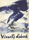 "ZAO WOU-KI Vivants D�Abord 31"" x 22.5"" Lithograph 1968 Abstract"