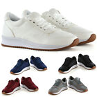 New Ladies Old Skool Causal Lace Up Gym Work Platform Trainers sizes 3-8