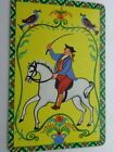 VINTAGE , MAN ON A HORSE ,SINGLE ,  SWAP PLAYING CARD.